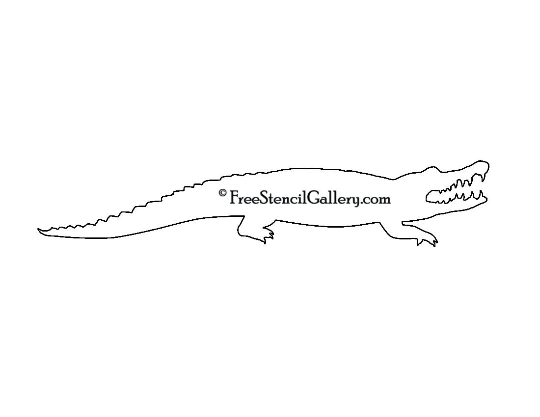 alligator silhouette stencil 01 free stencil gallery