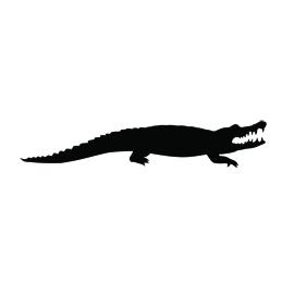 Alligator Silhouette Stencil 01 | Free Stencil Gallery