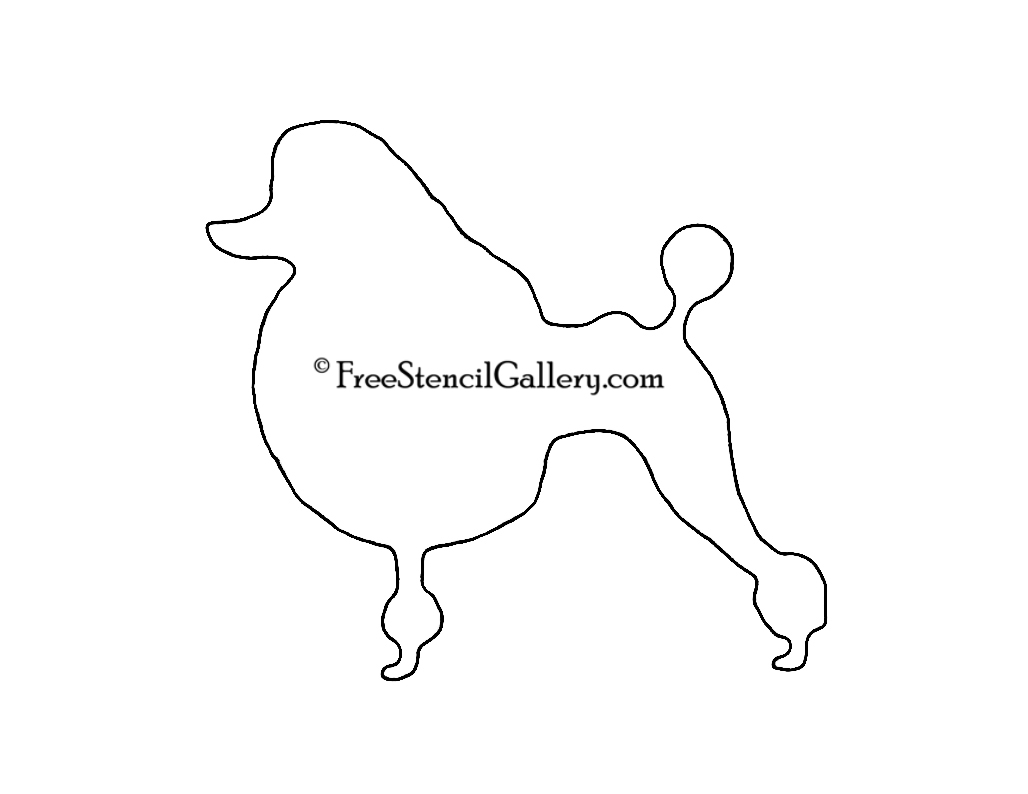 Poodle Silhouette Stencil Free Stencil Gallery