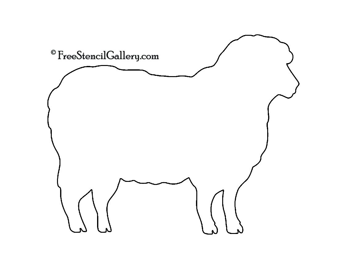 Sheep Silhouette 02 Stencil | Free Stencil Gallery