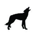 Howling Wolf Silhouette Stencil