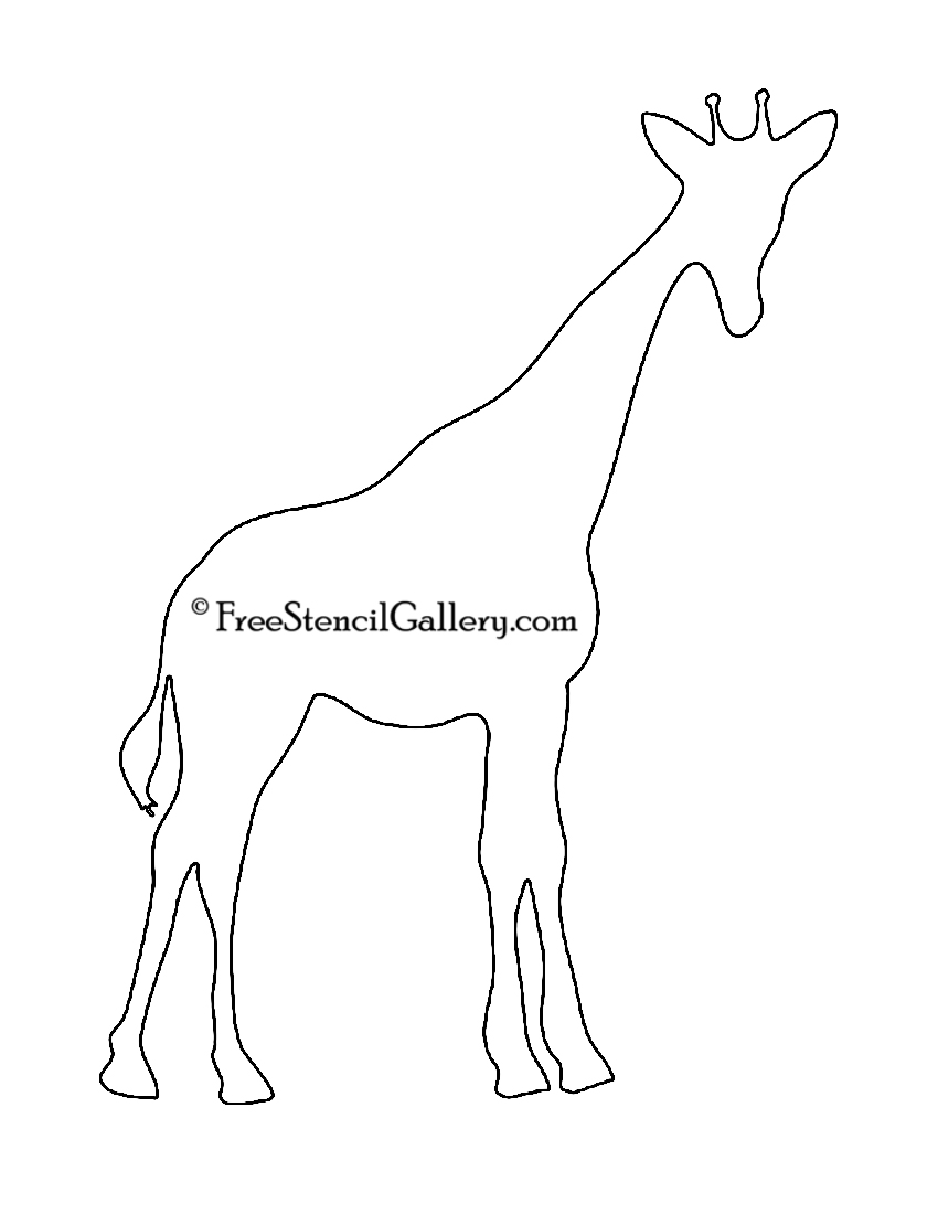 Gallery For gt Giraffe Stencil Pattern