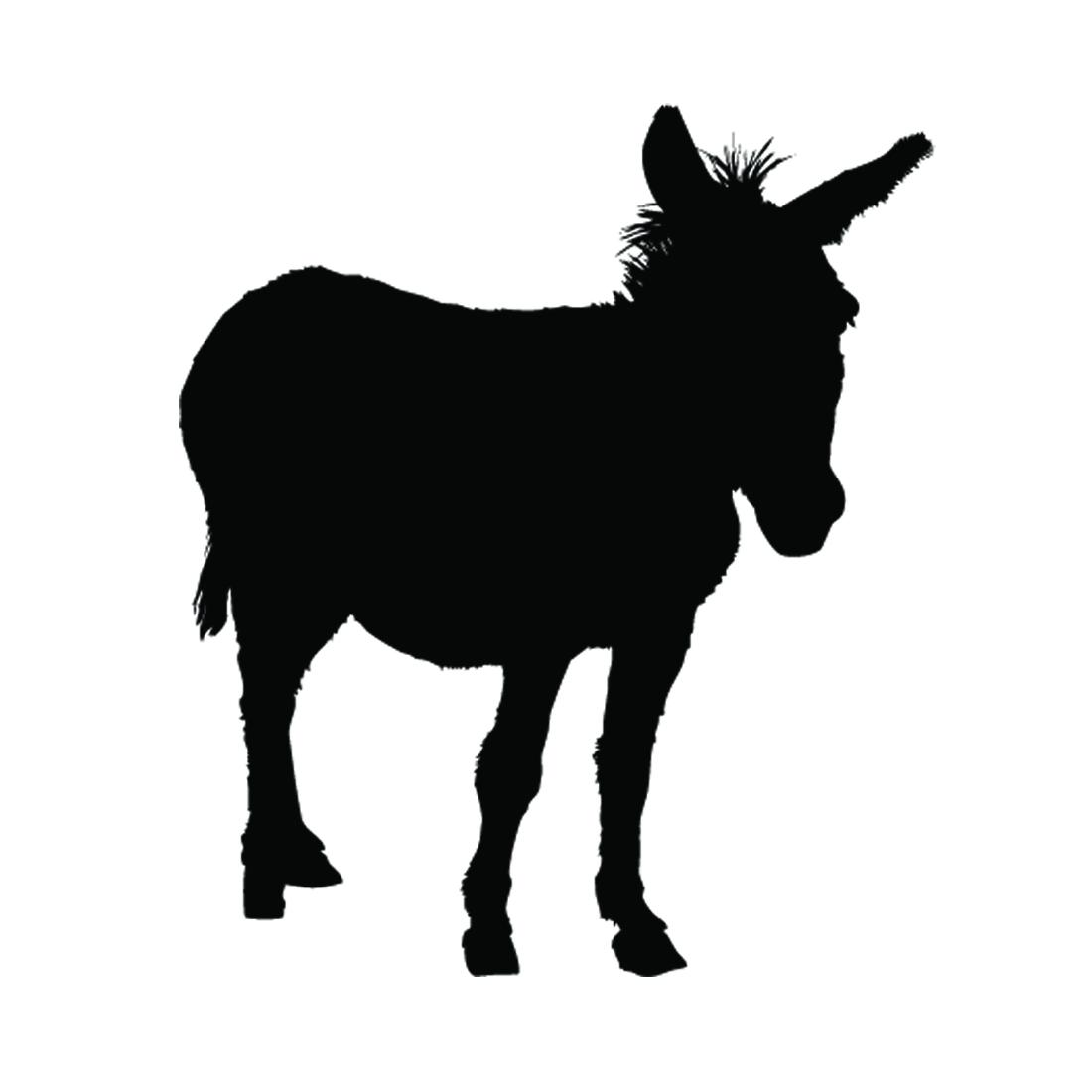 donkey silhouette stencil free stencil gallery