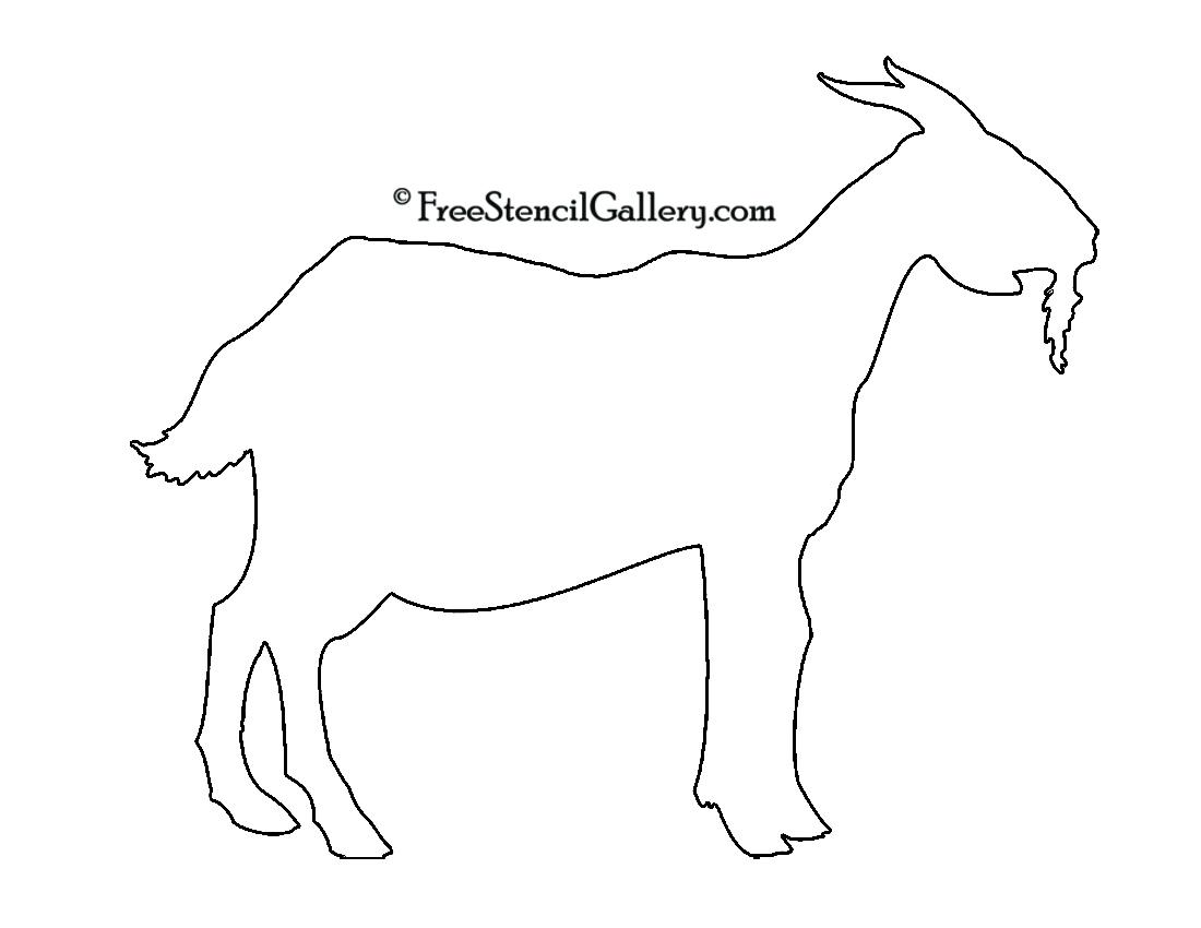 Goat Silhouette Stencil