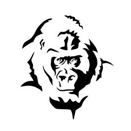 Gorilla Stencil Free Stencil Gallery