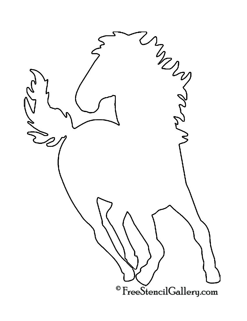 Horse Silhouette Stencil