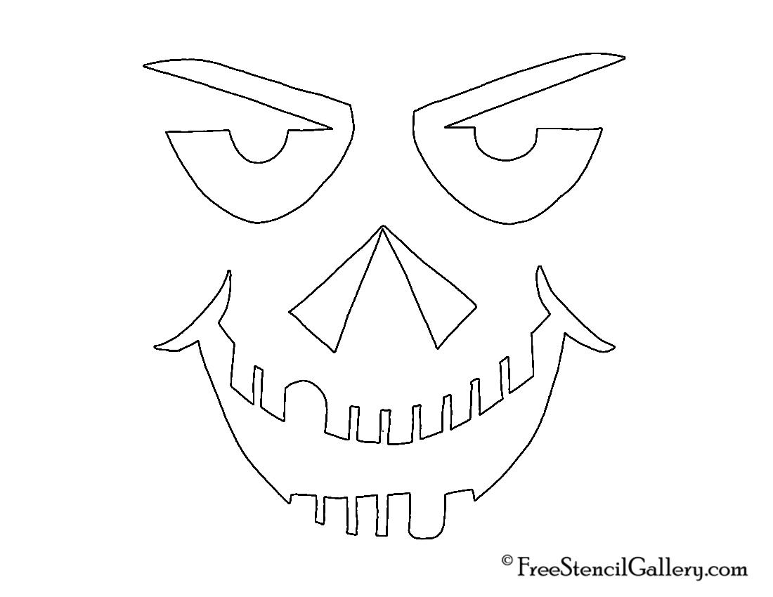 jack o lantern face 30 free stencil gallery