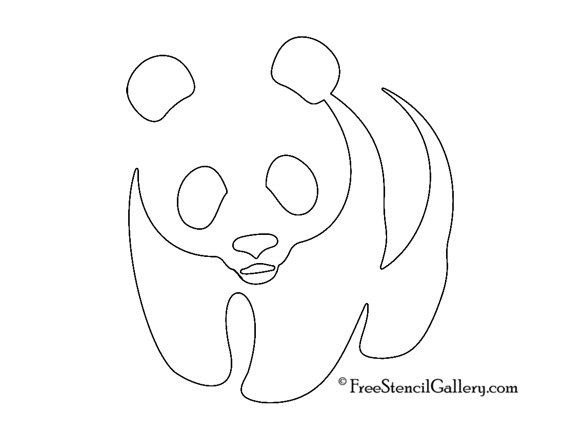 panda stencil free stencil gallery