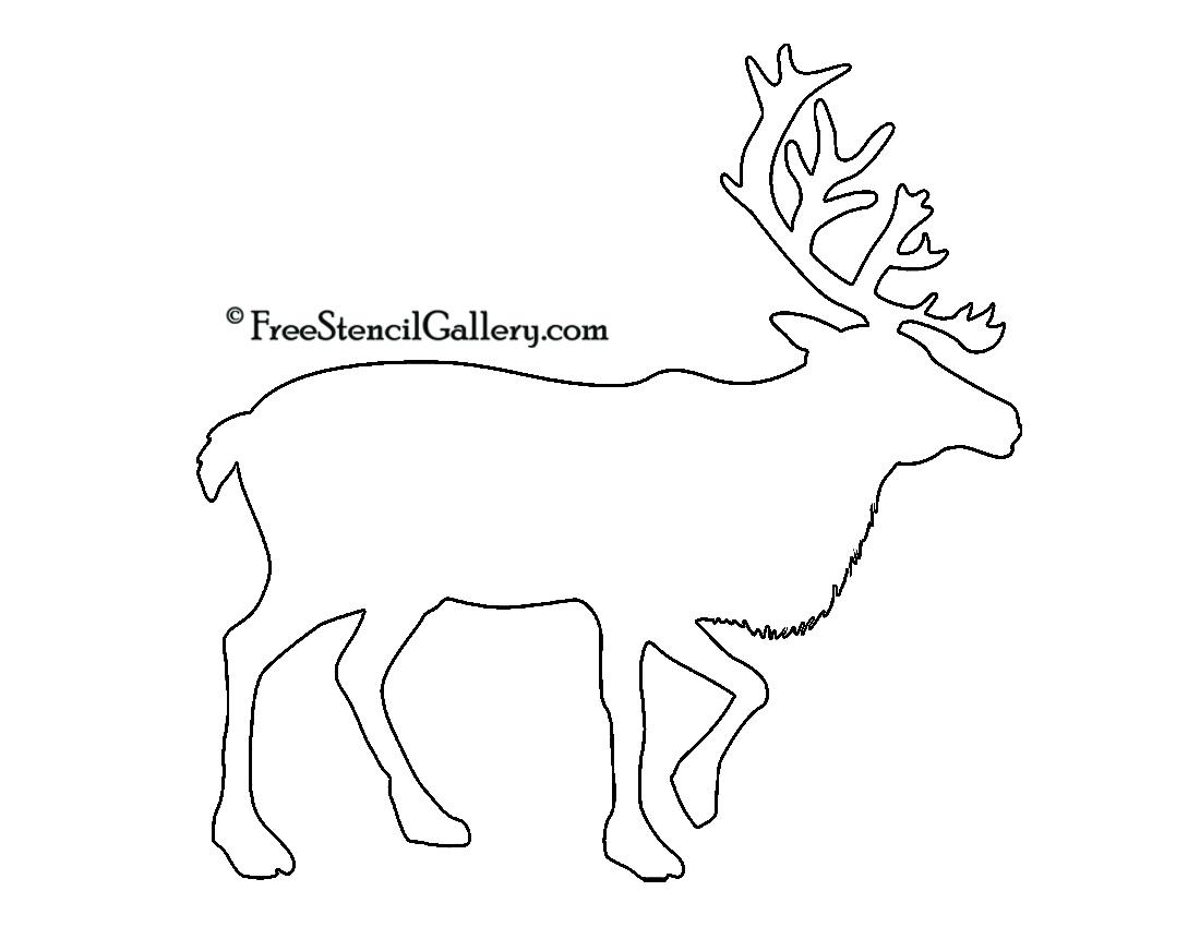 reindeer silhouette stencil free stencil gallery