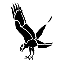 Clever image regarding printable hawk silhouette for window