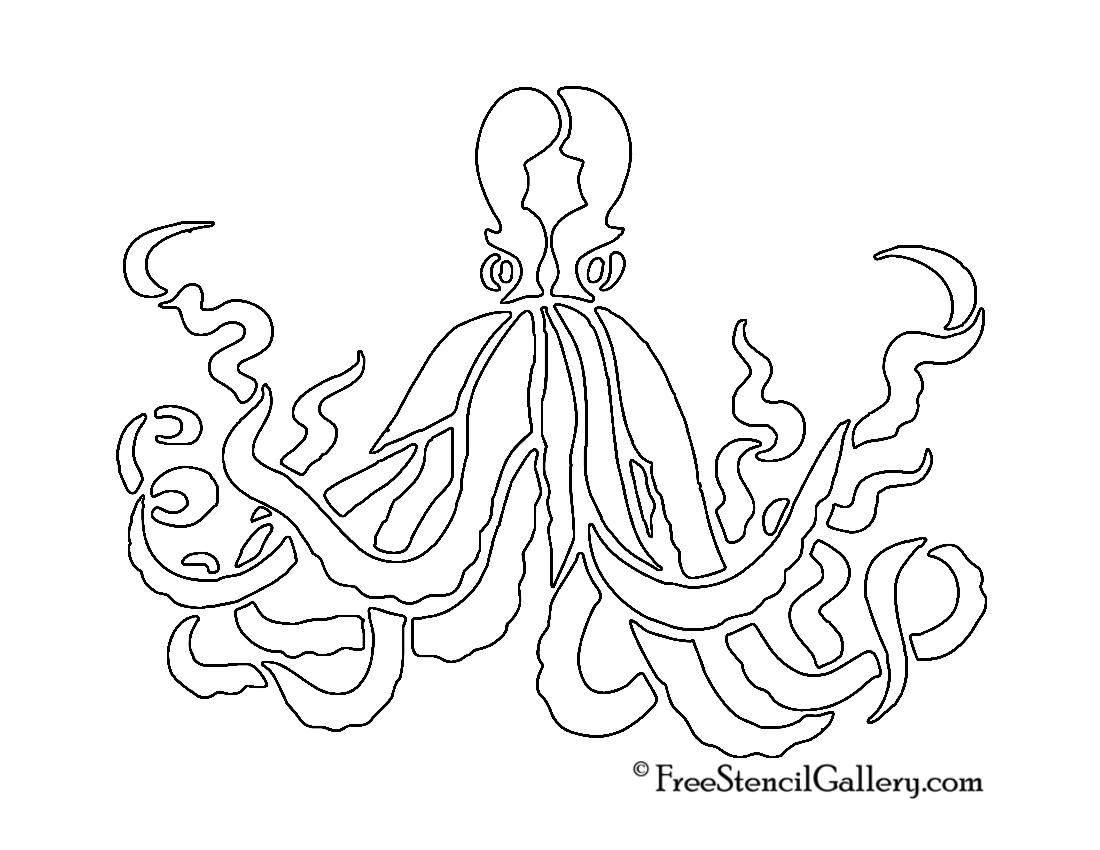 Octopus stencil free gallery