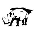 Rhinoceros Stencil