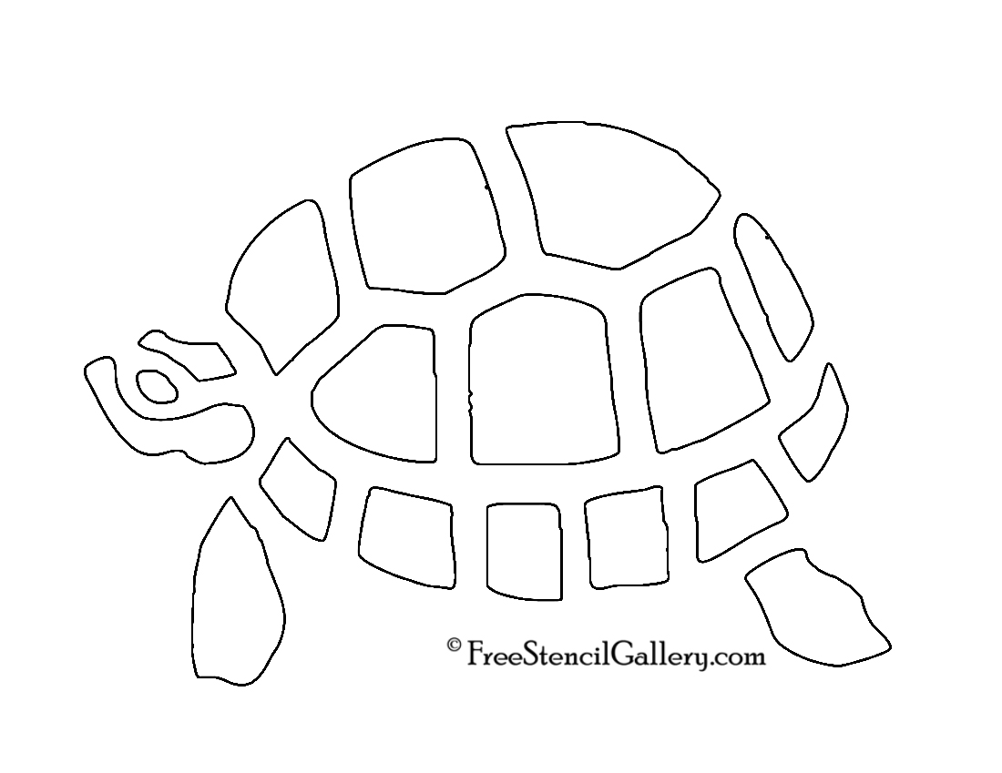 Turtle pumpkin carving stencil