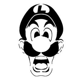 Luigi's Mansion Stencil