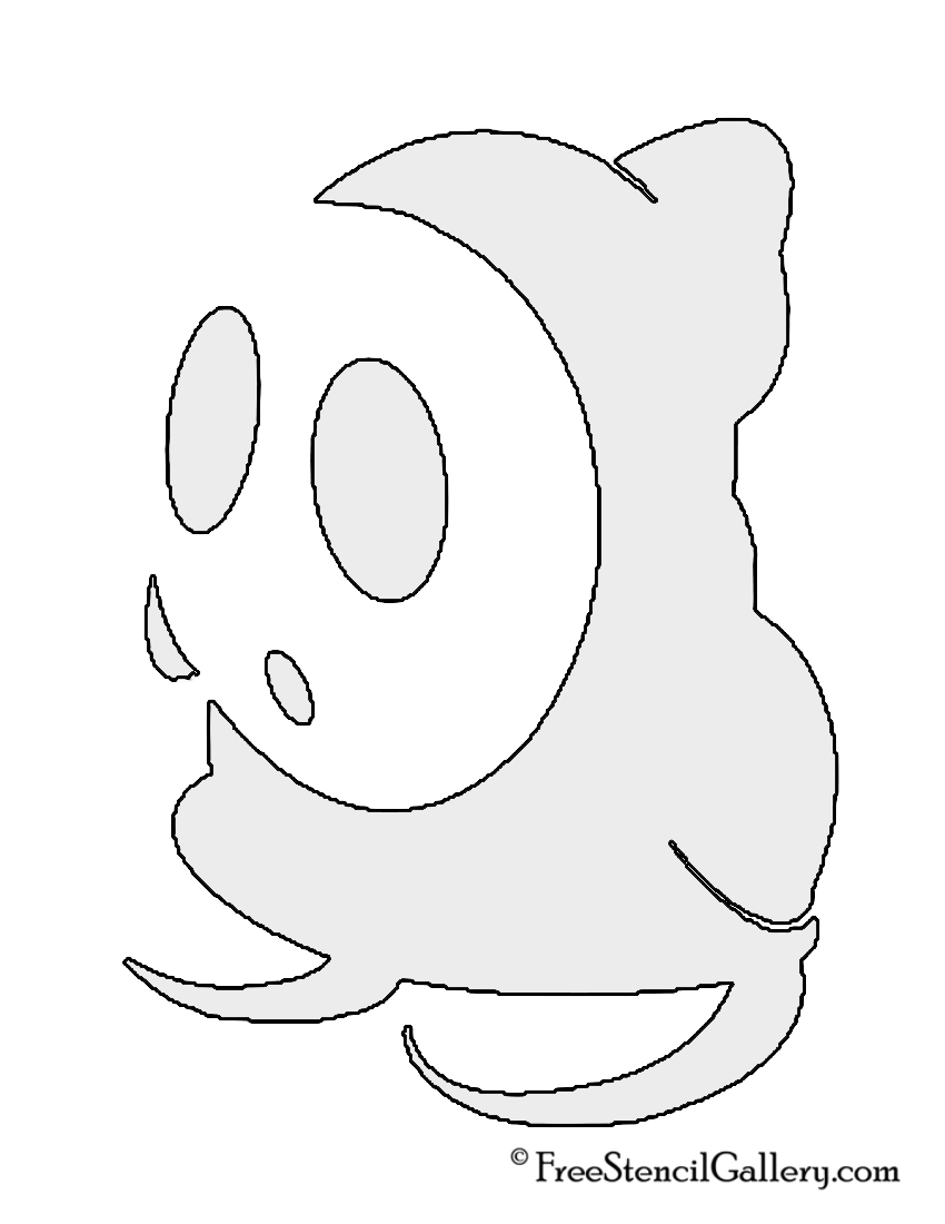 The gallery for yoshi pumpkin template for Shy guy coloring pages