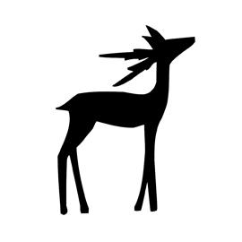 Reindeer Silhouette Stencil 03