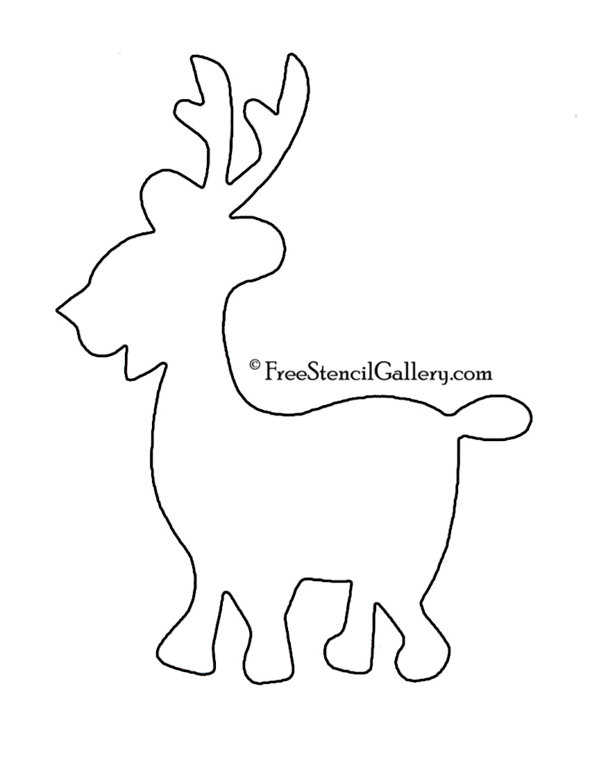 Caribou outline related keywords caribou outline long for Reindeer tail template