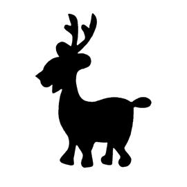 Reindeer Silhouette Stencil 05 | Free Stencil Gallery