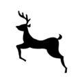Reindeer Silhouette Stencil 06