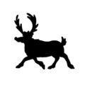Reindeer Silhouette Stencil 07