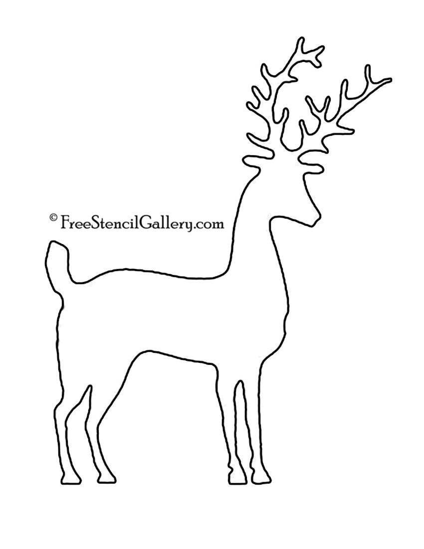 Reindeer Silhouette Stencil 08