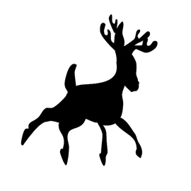 Reindeer Silhouette Stencil 09