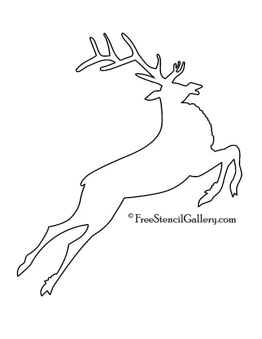 Reindeer Sleigh Outline Reindeer Sleigh Outlin...