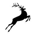 Reindeer Silhouette Stencil 10