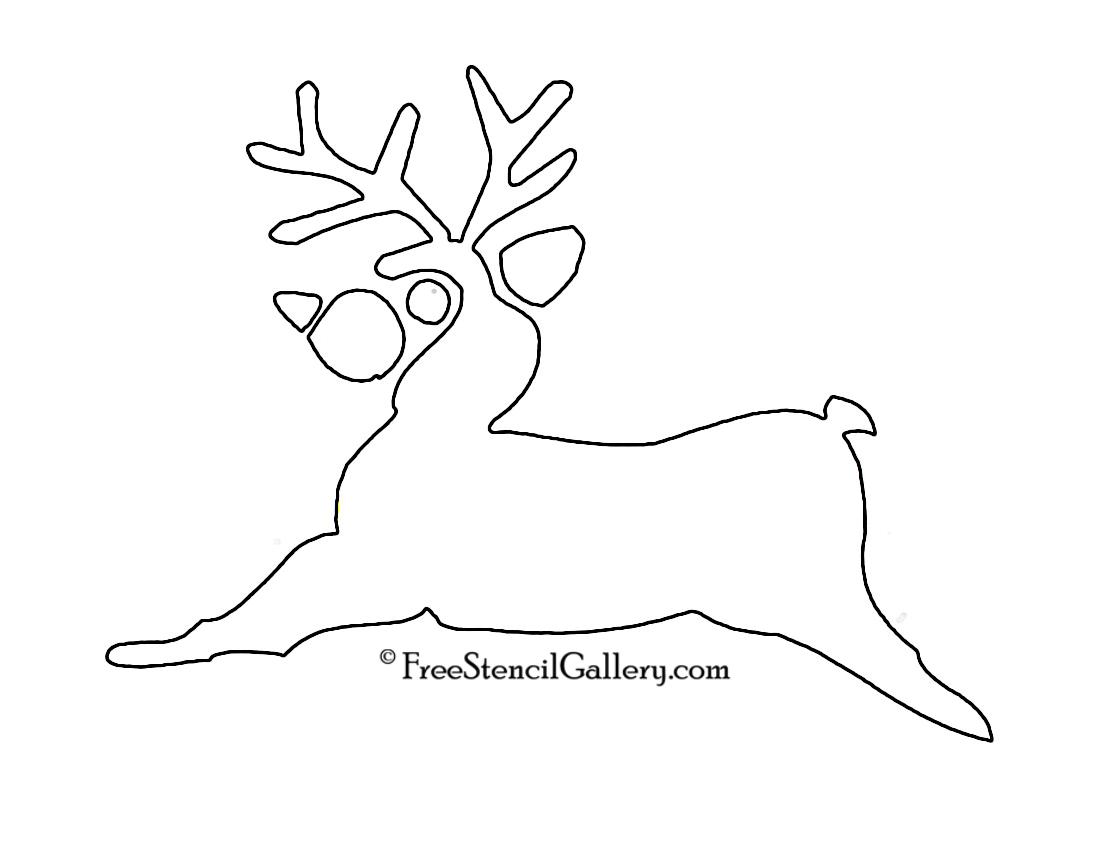 Reindeer Stencil 02