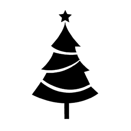 Christmas Tree Stencil 01