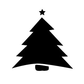 Christmas Tree Stencil 04