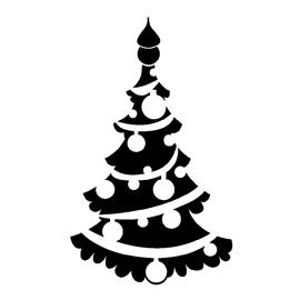 Christmas Tree Stencil 06