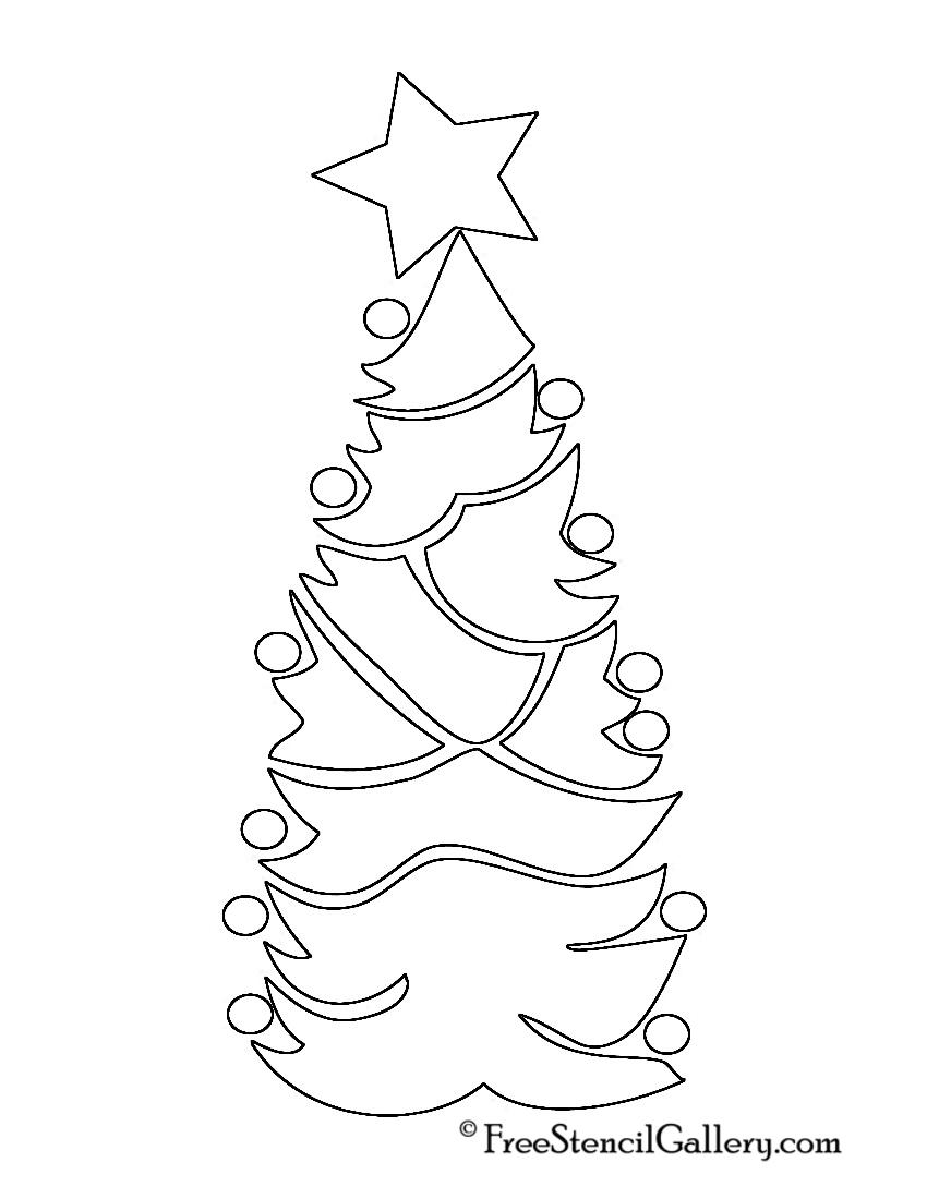 Christmas Tree Stencil 07