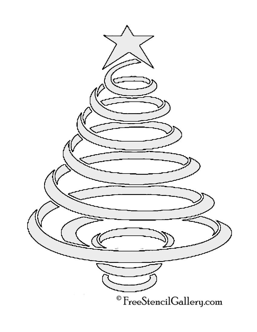 Christmas Tree Stencil 08