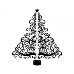 Christmas Tree Stencil 09