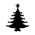 Christmas Tree Stencil 11