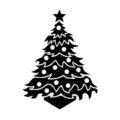 Christmas Tree Stencil 12
