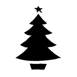 Christmas Tree Stencil 13