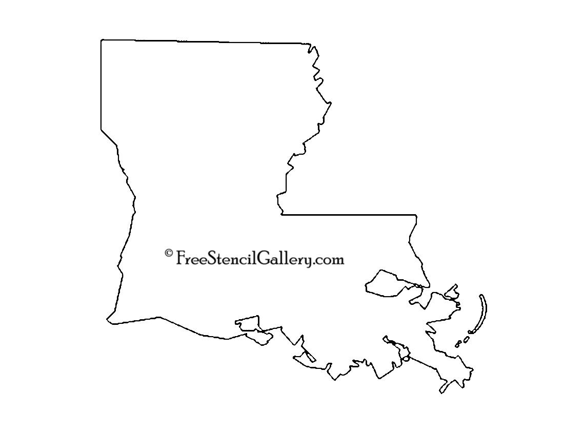 Louisiana Stencil | Free Stencil Gallery