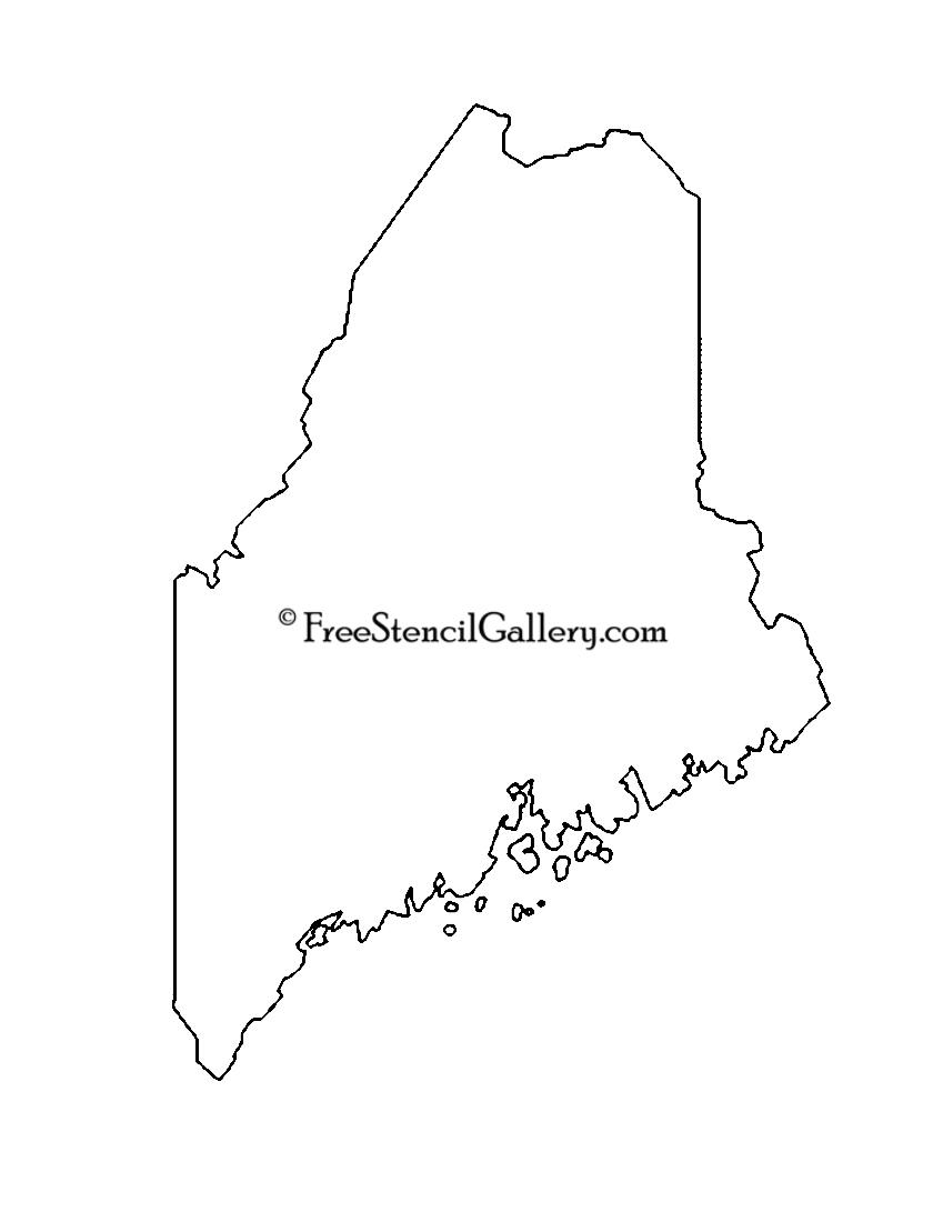 Maine Stencil