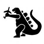 Godzilla Stencil