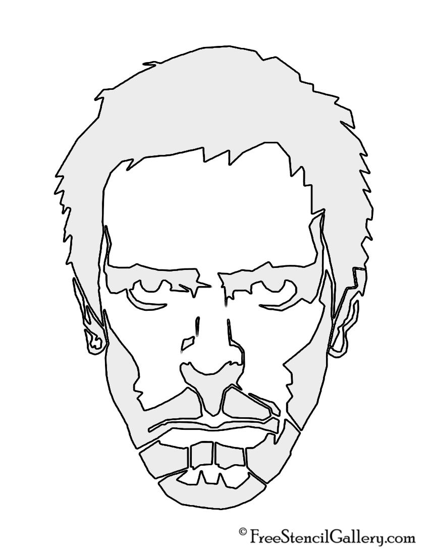 Gregory House, M.D. Stencil