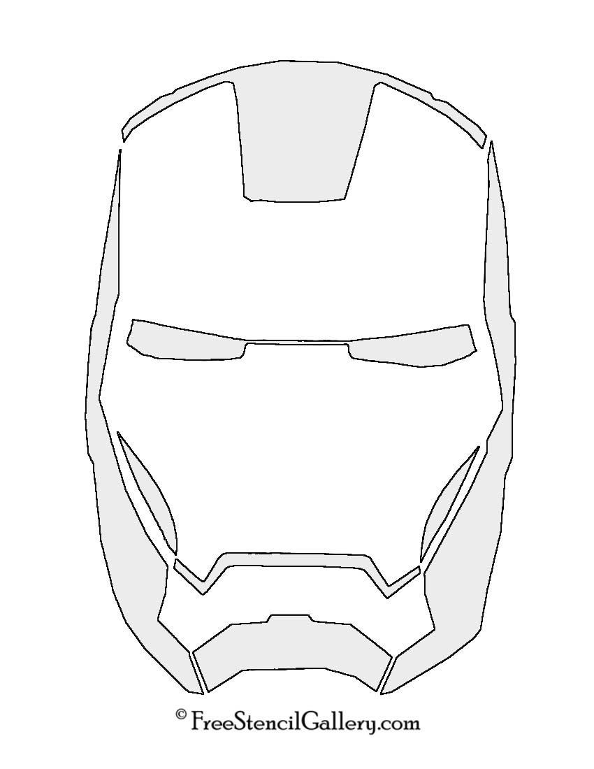 iron man face mask template - iron man mask stencil free stencil gallery
