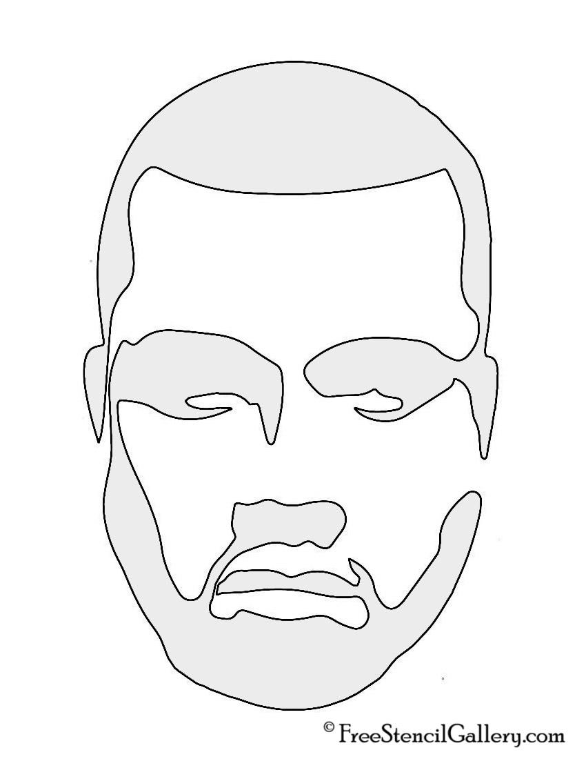 Kanye West Stencil