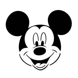It is a graphic of Challenger Mickey Mouse Pumpkin Stencils Printable