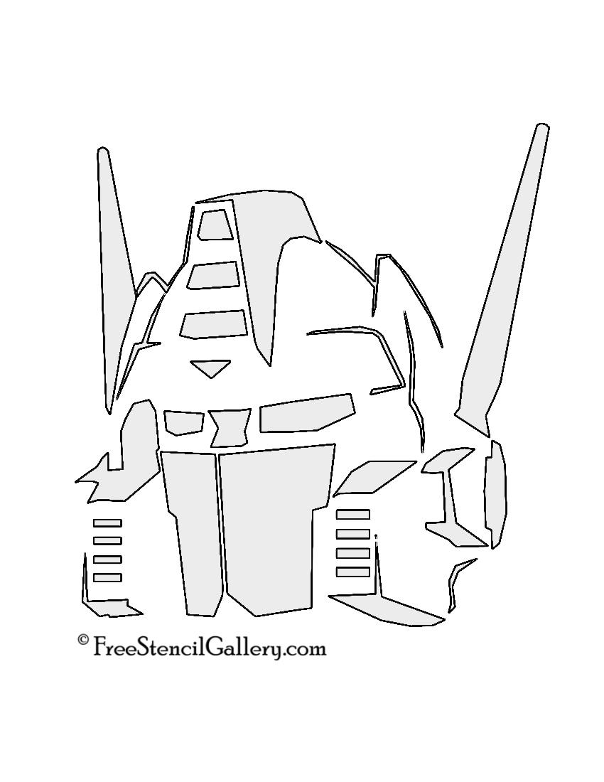 optimus prime stencil free stencil gallery