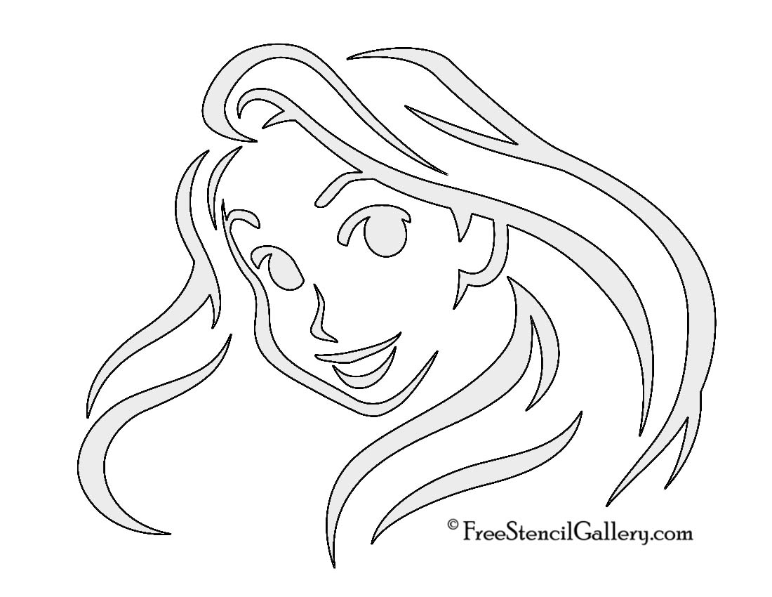 Rapunzel free stencil gallery for Rapunzel pumpkin template