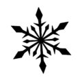 Snowflake Stencil 02