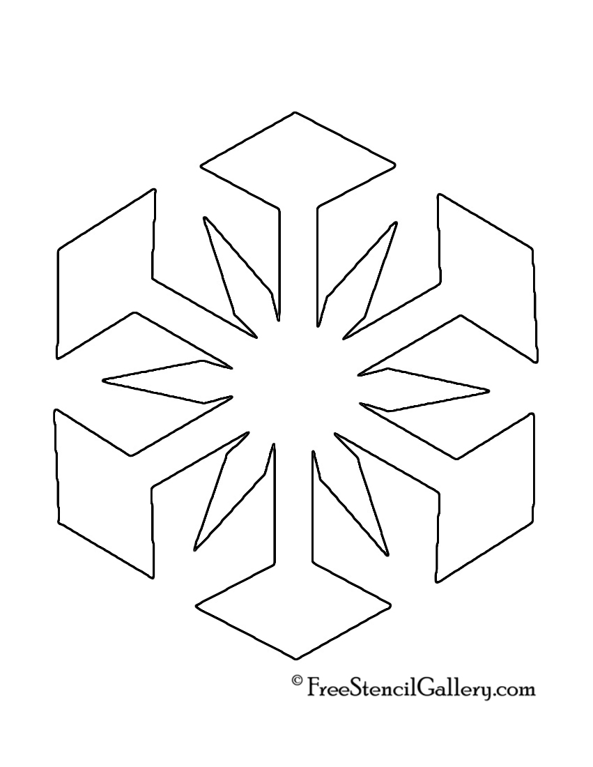 Snowflake Stencil 03 | Free Stencil Gallery