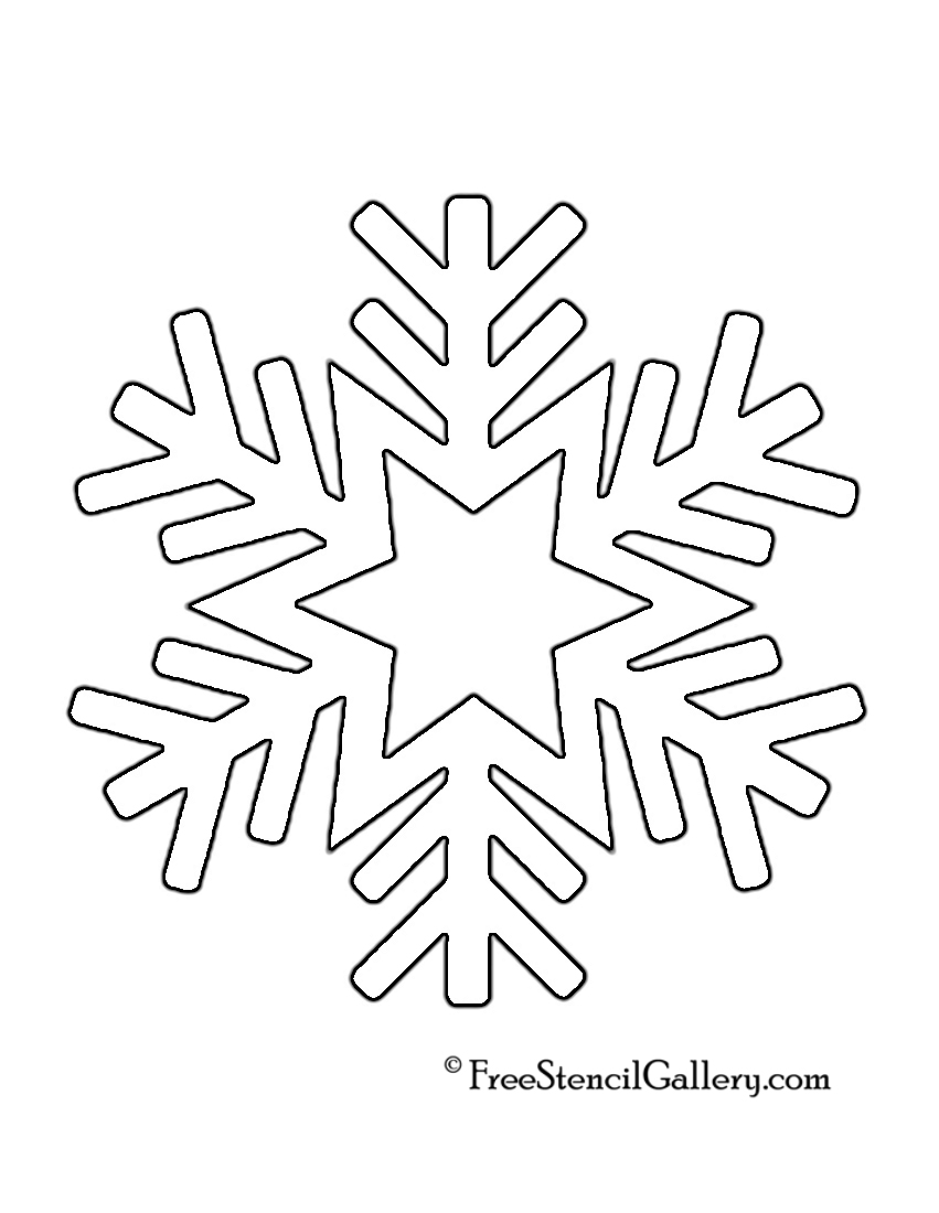 snowflake stencil 08 free stencil gallery